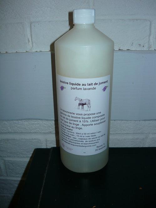 lessive liquide au lait de jument parfum à la lavande