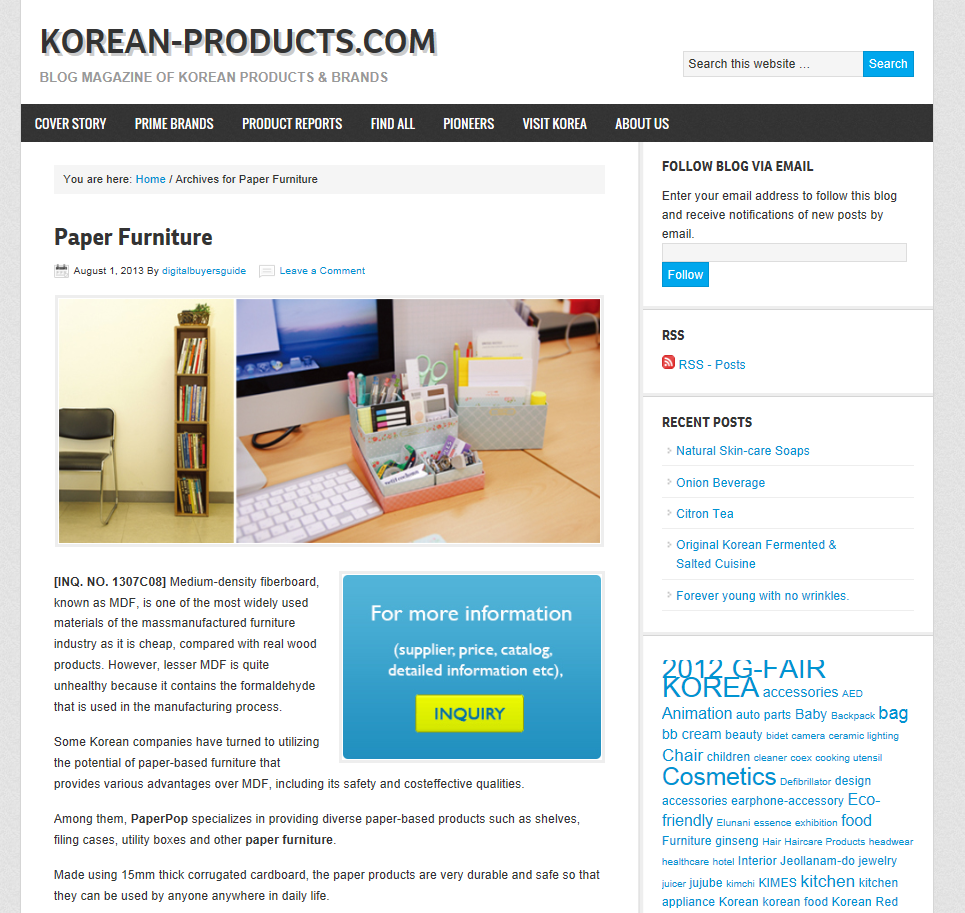 2013.08 KOREA-PRODUCTS