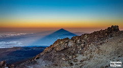 Wschód słońsa na Teide