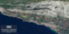 Oczarowany Wyspami Mapa Brela i Baska Vo