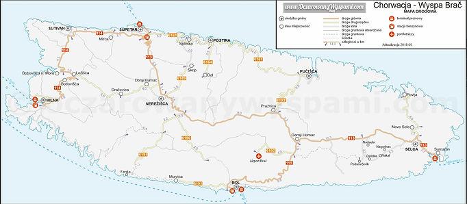 Chorwacja Brac Mapa Drogowa 2018.05.jpg
