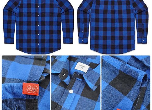 """SOS Check Shirt """"OGC"""" - Blue/Black"""