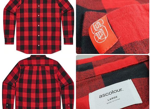 "SOS Check Shirt ""OGB"" - Red/Black"