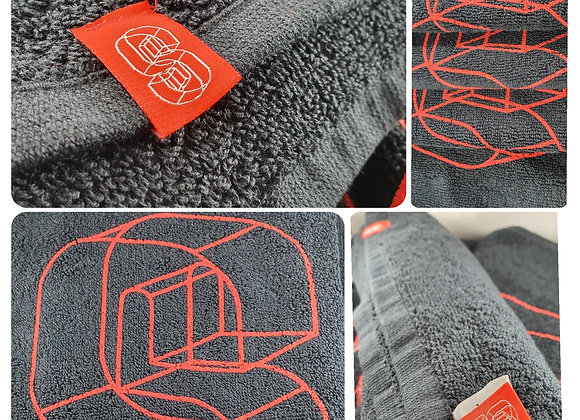 "SOS Premium Gym Towels ""SWEAT"" - Black"