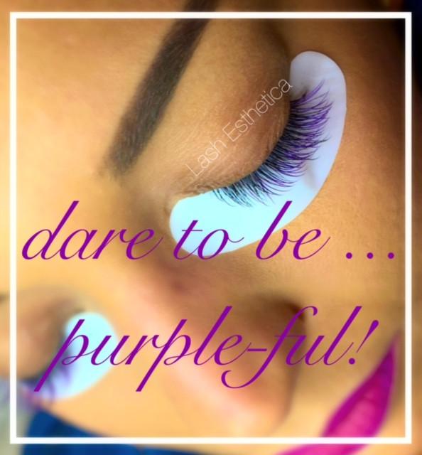 Purple Lashes