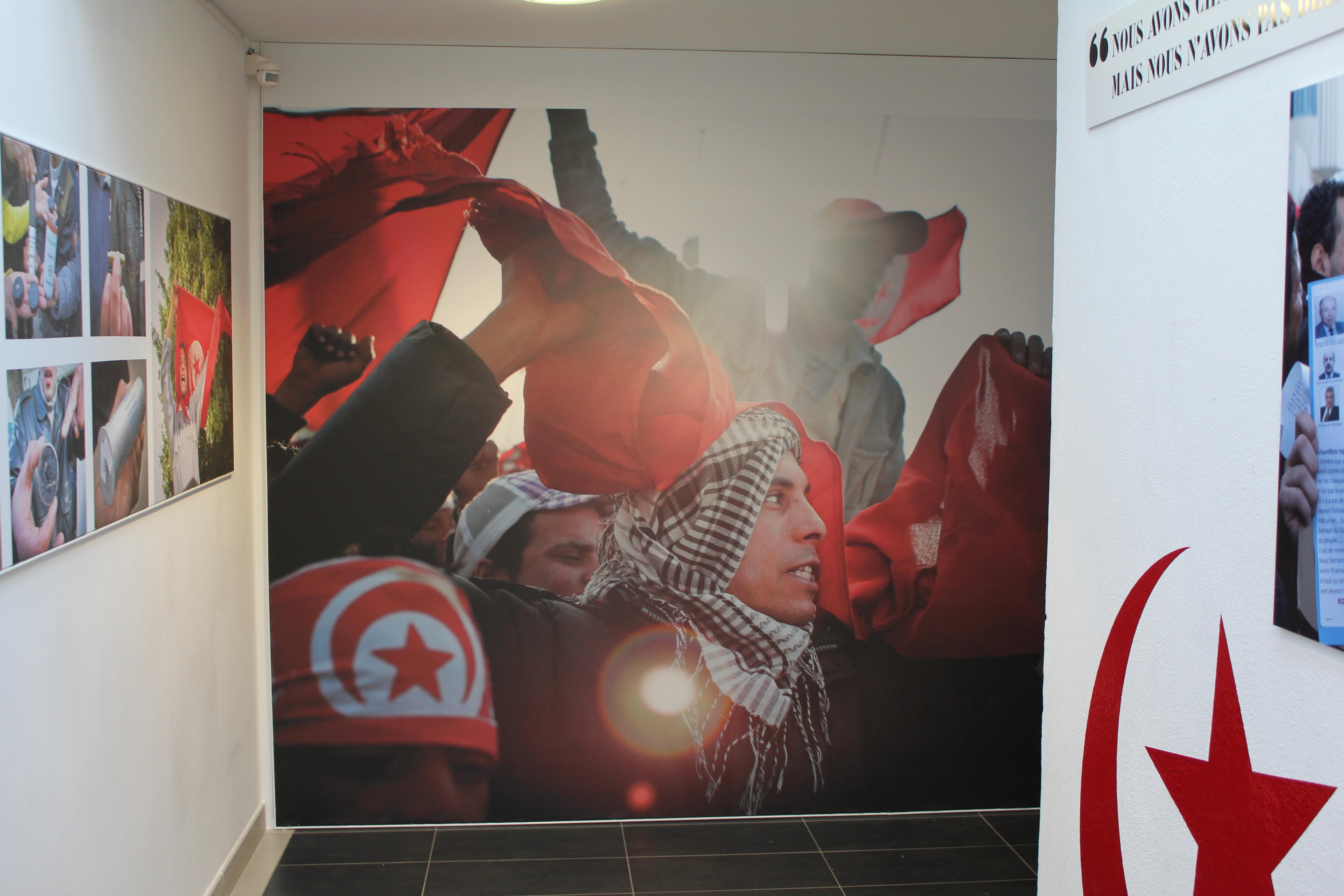 """EXPOSITION """"LA RÉVOLUTION TUNISIENNE"""