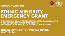 WEDC Announces the Ethnic Minority Emergency Grant