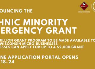 WEDC Announces the Ethnic Minority Emergency Grant