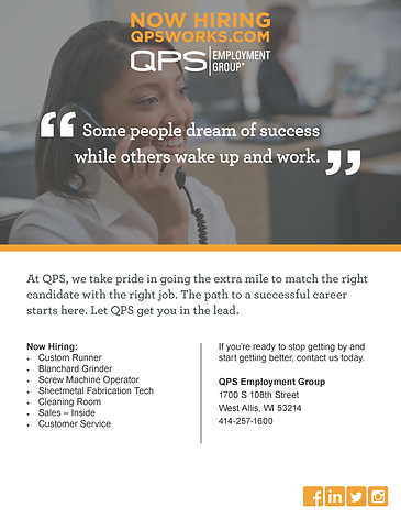 Open Interviews in West Allis with QPS Employment Group!