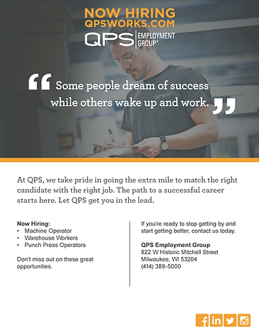 Open Interviews in Milwaukee with QPS Employment Group!