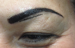 after brow tattoo