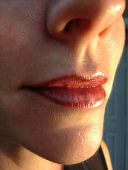 tattooed lip