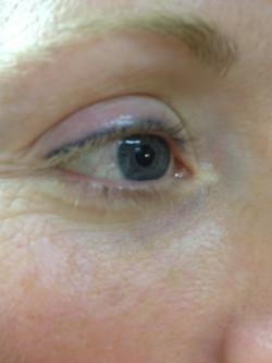 old blue eyeliner