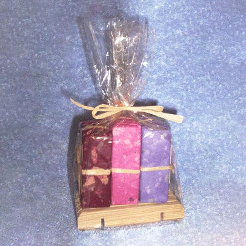 Wooden Soap Dish Gift Set