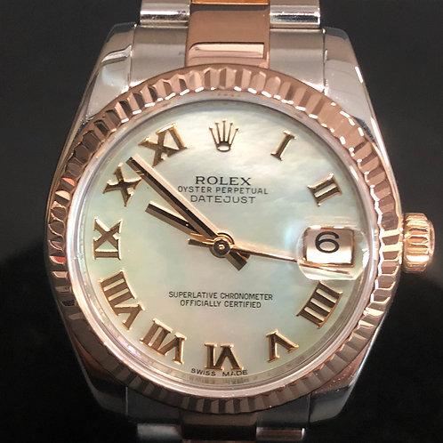 Rolex Lady-Datejust MOP Dial B&P 2013 Everose gold 31mm Mint