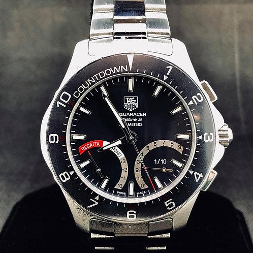 TAG Heuer Aquaracer 300M Calibre S Regatta Grey, Blue Chronograph 41