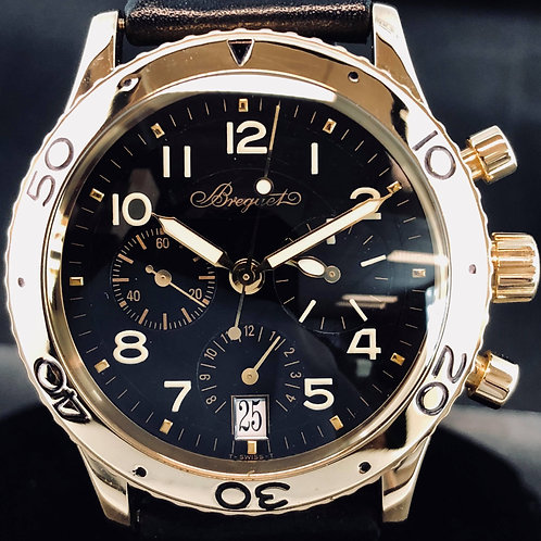 Breguet Type XX Chronograph, Rose Gold. 39MM, Flyback, Ref 3820 B&P