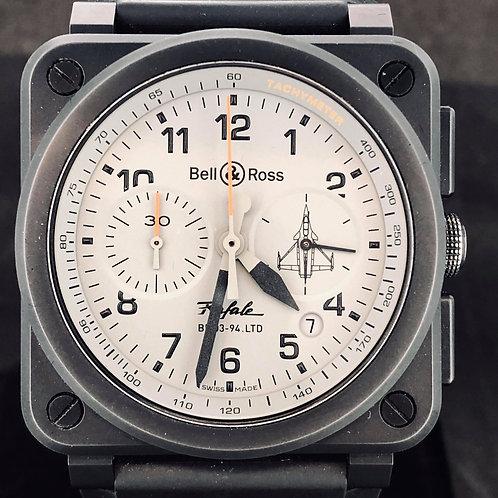 Bell & Ross BR 03-94 Chronographe, Rare Rafale Dassault Edition B&P2016