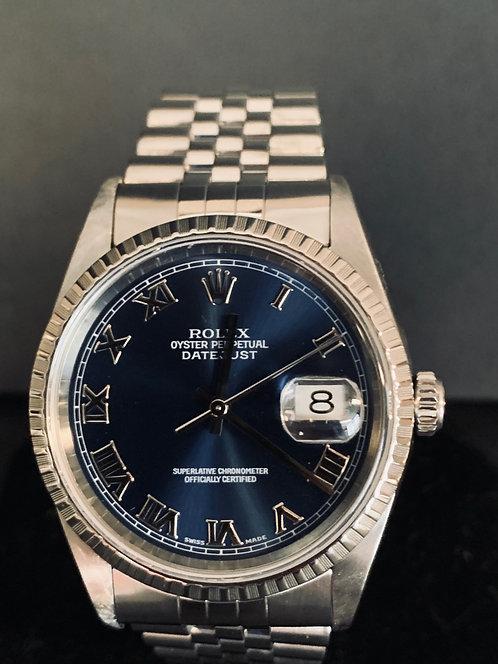 Rolex Datejust 36mm Jubilee Blue Dial MINT-16220 Full Set