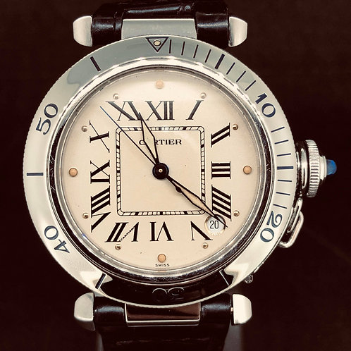 Cartier Pasha 35mm steel mint