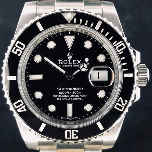 Rolex Submariner Date, 40MM, Black Ceramic, Steel, B&P2016