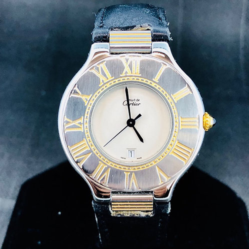 Cartier 21 Must de Cartier, Gold/Steel