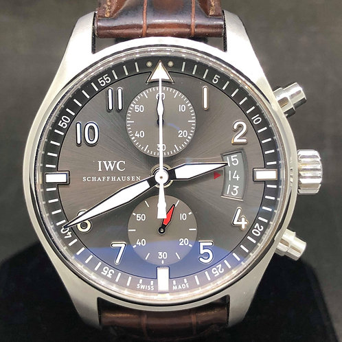 IWC Pilot Spitfire Chronograph spi iw 3878 like new with Papers