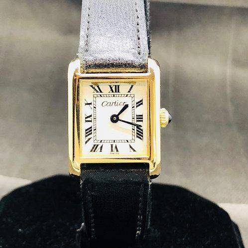Cartier Must de Cartier Manual Winding 18kt Gold Electroplated