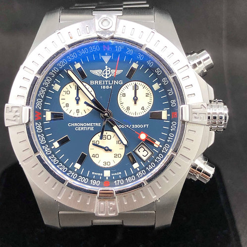Breitling Avenger Seawolf Steel full set B&P 2011 MINT