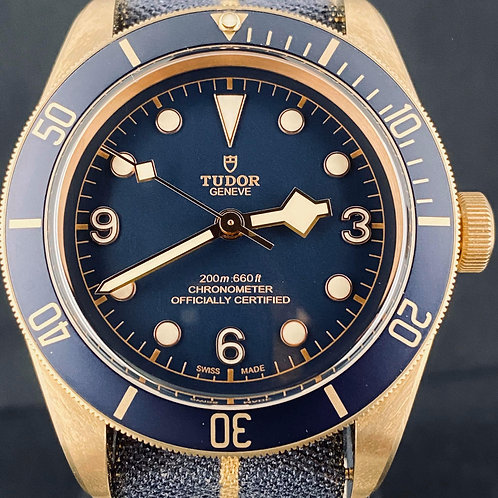 Tudor Black Bay Bronze 43MM Blue Bucherer Edition Unworn