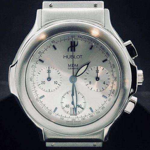 HUBLOT MDM Elegant, Chronograph, SuperQuartz, Steel, B&P2015