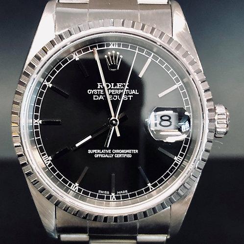 Rolex Datejust 36MM, Steel ' 16220' , Oyster, Black Dial - MINT