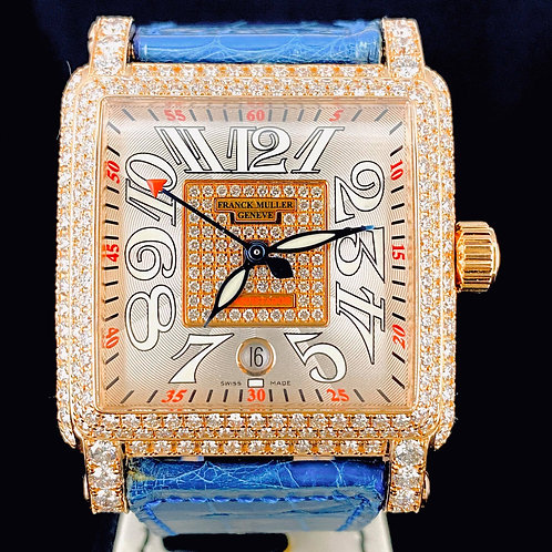 Franck Muller Conquistador Cortez Rose Gold Factory Diamonds/Dial 41MM