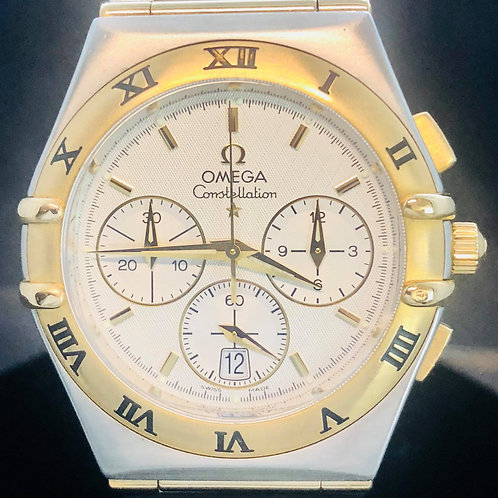 Omega Constellation Chronograph Gold Steel