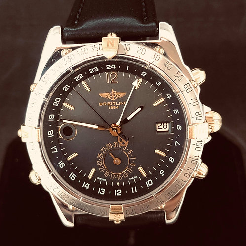 Breitling Duograph Gold Steel Mint
