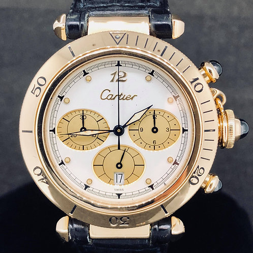 Cartier Pasha Chronograph Rose Gold 38.5mm