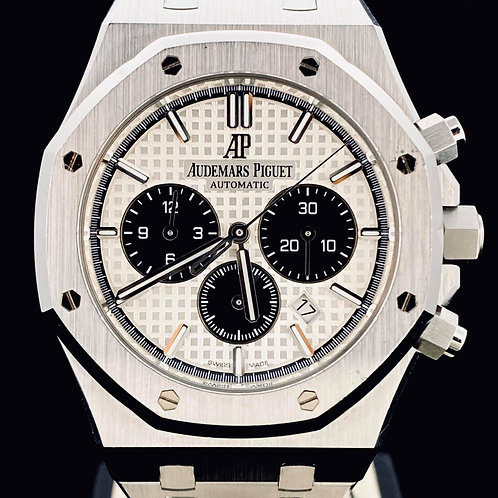 Audemars Piguet Royal Oak Chronograph 41MM Silver Panda Dial Steel B&P2018