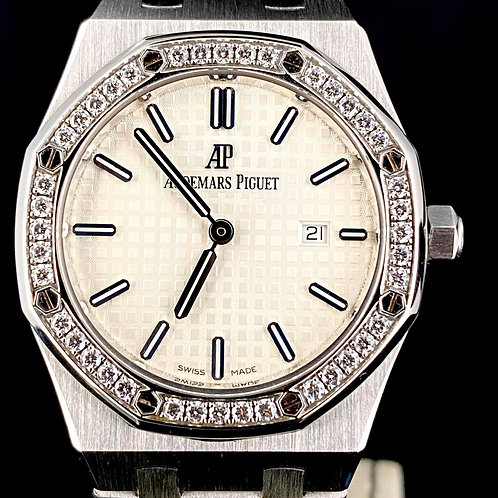 Audemars Piguet Royal Oak Lady Factory Diamond Full Steel, AP SERVICE B&P15