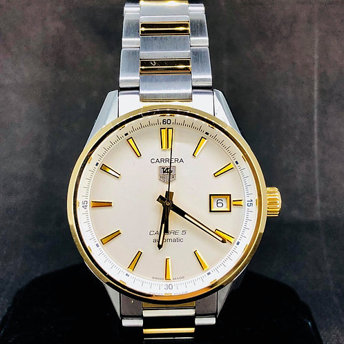 TAG Heuer Carrera Calibre 5, 18k Yellow Gold & Steel, 38MM