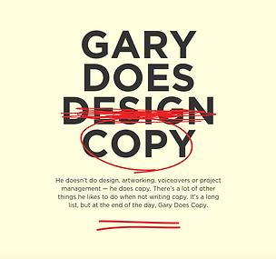 Gary Does Copy