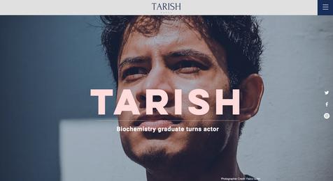 TarishPatel.com website designed by The