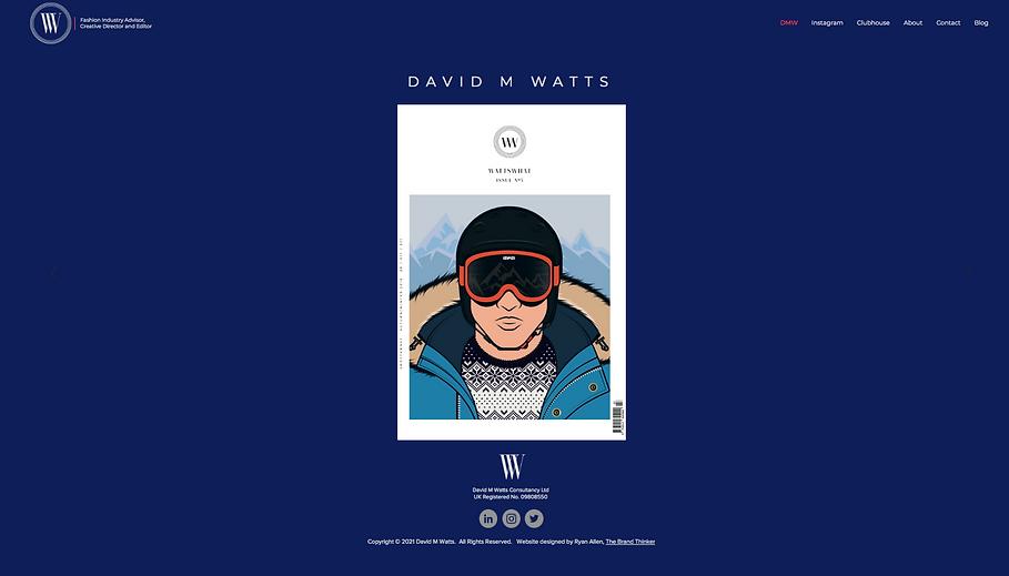 David M Watts, Fashion Industry Advisor.