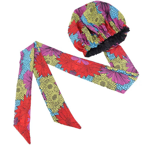 Fajah Bonnet (Silk lined Ankara/ African fabric headwrap)