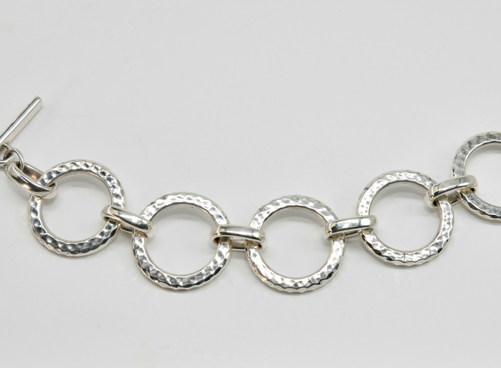 Joy of Silver Hoop Bracelet