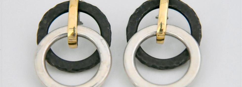 Textured Double Hoop Earings