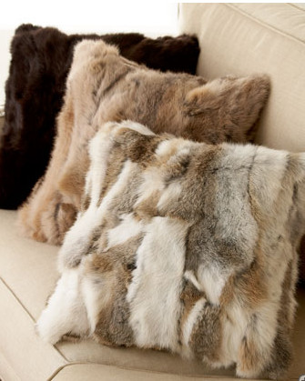 Pillows From Restyled Fur Coats