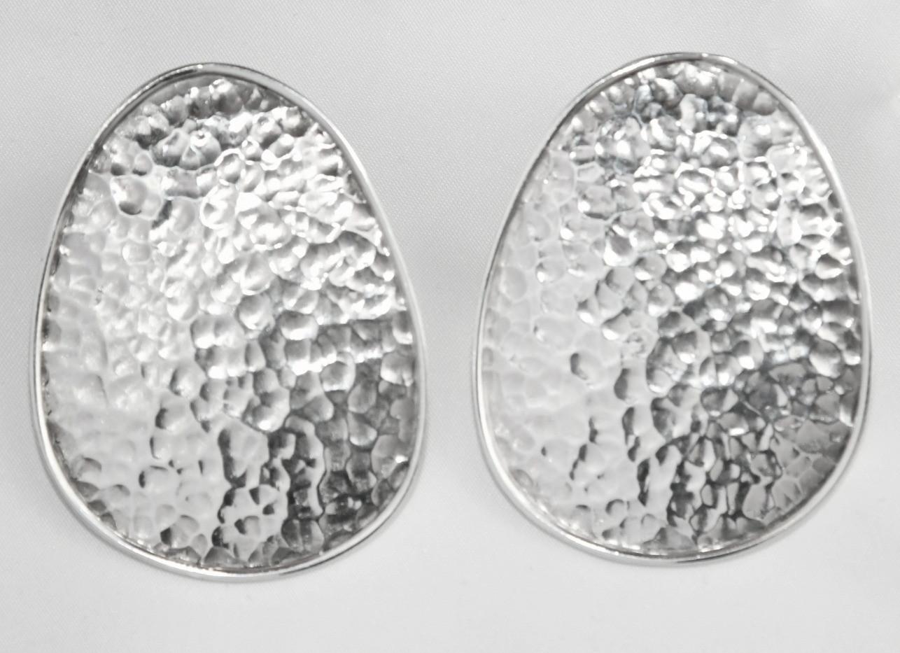Joy of Silver Large Diskk Earrings