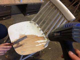 Jak odnowić stare krzesło - patyczak?