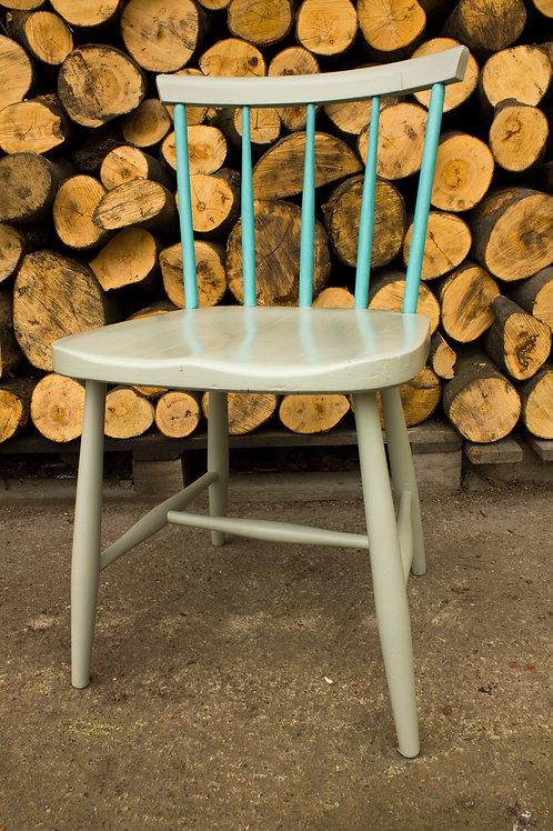Krzesło szaro-turkusowe - Jak nowe