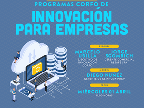 Webinar Ceinnova: Programas CORFO de innovación para empresas